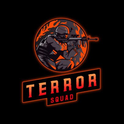 Emblem Logo Creator for a Gaming Squad Featuring a Lethal Shooter 3159d
