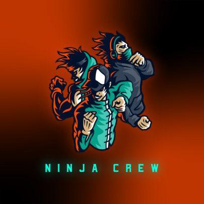 Gaming Logo Maker Featuring a Martial Arts Squad 3165l