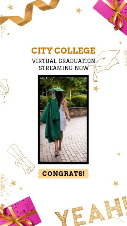 Instagram Story Maker For a Virtual Graduation Ceremony 2430x 2479