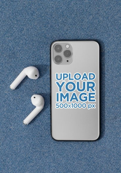 Mockup of a Sticker Placed on an iPhone 11 Pro 33599