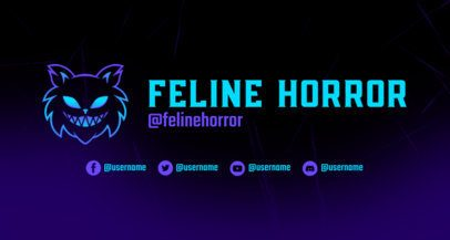 Twitch Banner Creator for Gaming Channels Featuring a Minimal Background 2469