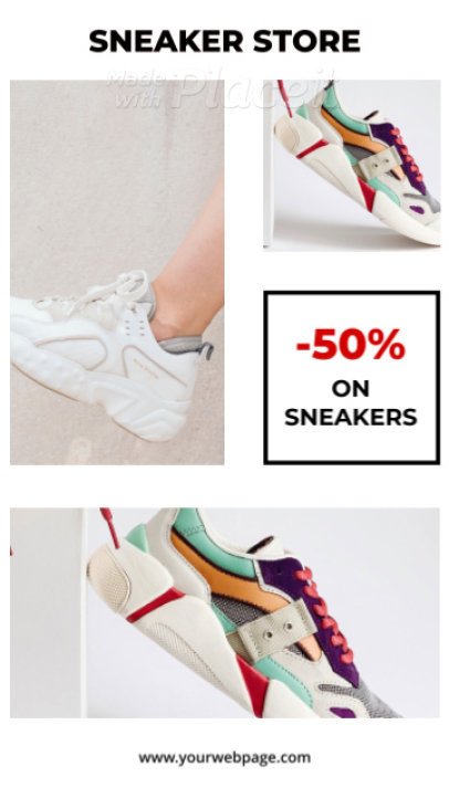 Trendy Instagram Story Video Maker for a Sneakers Store 1773-el1