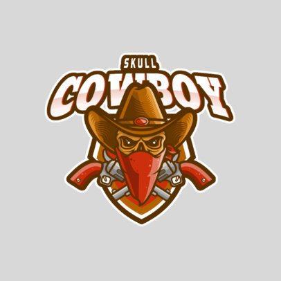 Gaming Logo Maker Featuring a Cowboy Skull Icon 981-el1
