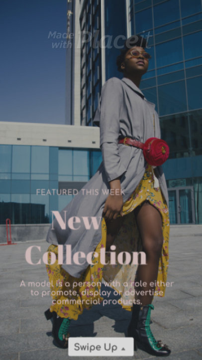 Fashionable Instagram Story Video Creator for a New Collection Announcement 1572-el1