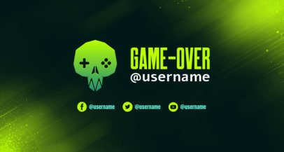 Retro Twitch Banner Creator with a Geometric Skull Graphic 2469h