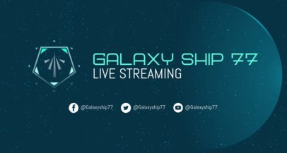 Twitch Banner Generator for a Streaming Channel Featuring Space Graphics 2469m