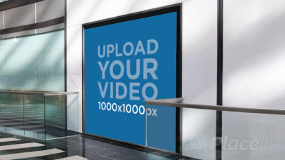 Video of a Square Billboard Placed Indoor 34383