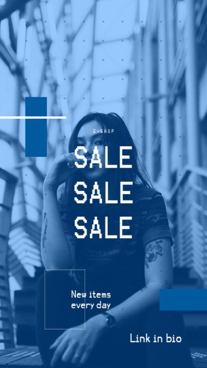 Instagram Story Template for a Sales Announcement of a Clothing Store 979a-el1
