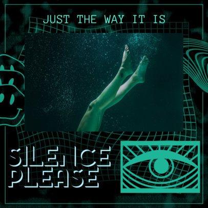 Album Cover Template with Anti-Design Graphics 2465c