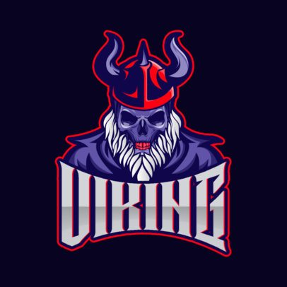 Gaming Logo Generator Featuring an Undead Viking Illustration 1092a-el1