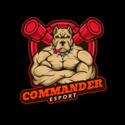 Gaming Logo Creator with a Muscular Pit Bull Character 1084b-el1