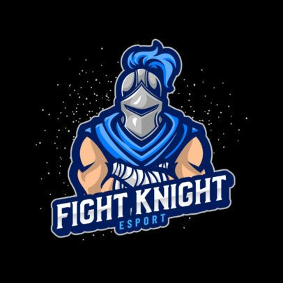 Logo Maker for a Gaming Team with a Medieval-Armor Fighter 1084e-el1
