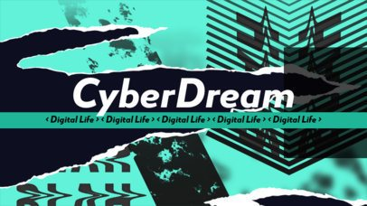 Anti-Design Inspired YouTube Banner for a Technology Channel 2467d