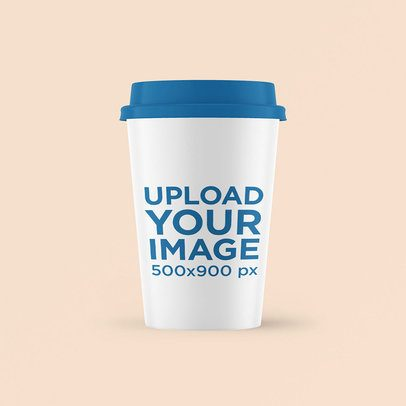 Simple Mockup of a Coffee Cup with a Customizable Lid 3775-el1