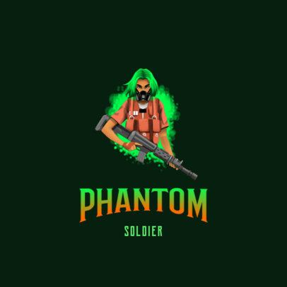 Logo Generator for Gamers Featuring a Masked Character Holding an Assault Rifle 3183d