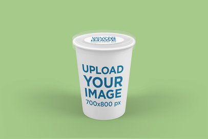 Packaging Mockup Featuring a Large Food Cup 4009-el1