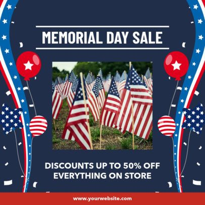 Instagram Post Maker for a Memorial Day Remembrance 2485