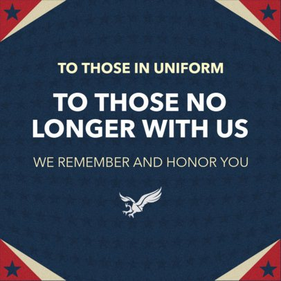 Facebook Post Maker with a Patriotic Design for Memorial Day 2486a
