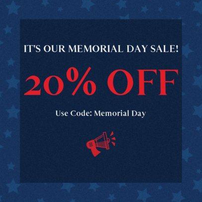Facebook Post Design Maker for a Memorial Day Special Offer 2486j