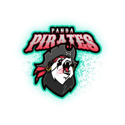 Online Logo Maker Featuring a Panda with a Pirate Look 3209a