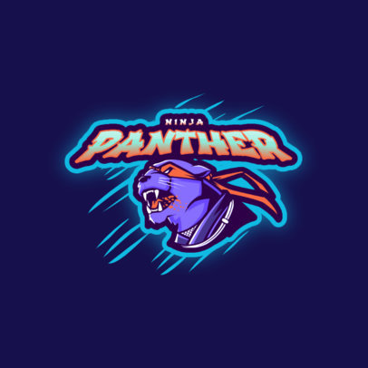 Logo Template of a Ninja Panther Graphic 3209c