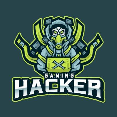 Gaming Logo Generator With an Evil Hacker Illustration 1215b-el1