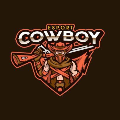 Logo Template for an eSports Team With a Fierce Cowboy Clipart 1215e-el1