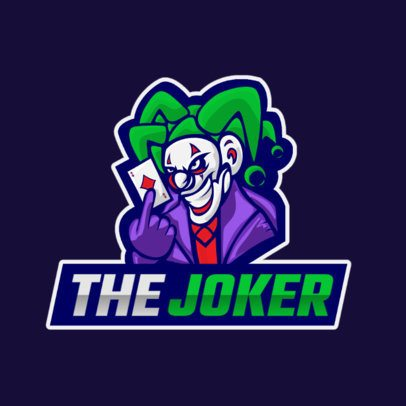 Gaming Logo Maker Featuring a Joker Character with an Evil Laugh 1217a-el1
