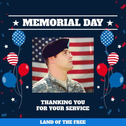 Memorial Day Instagram Post Template with a Grateful Quote 2485e