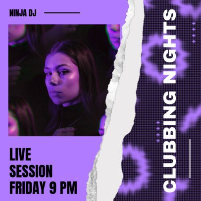 Instagram Post Creator for a Club's Live Music Session 2490b