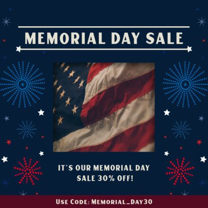 Instagram Post Maker for a Memorial Day Sale 2485i