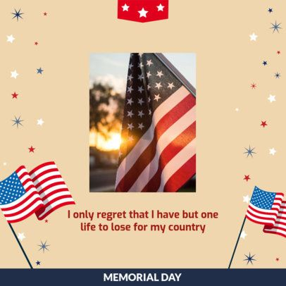 Instagram Post Creator for a Memorial Day Celebration 2485d