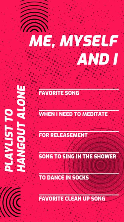 Instagram Story Maker for a Songs Challenge 2489b