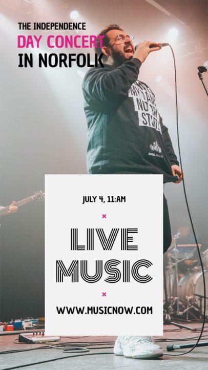 Instagram Story Template for Concert Announcements 1246-el1