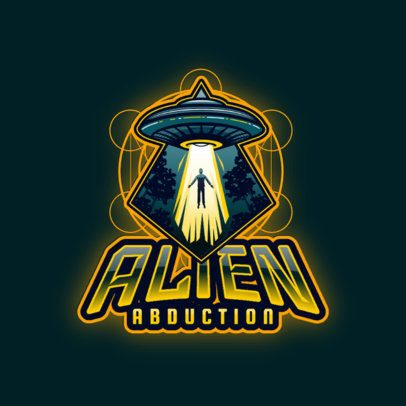 Gaming Logo Maker Featuring a Spaceship Abducting a Human 3204j
