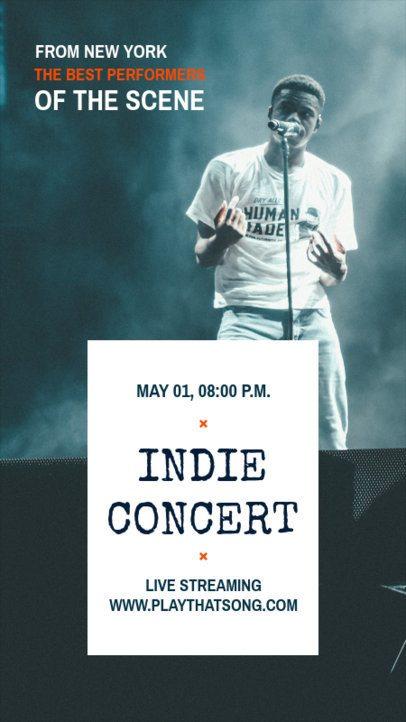 Modern Instagram Story Maker for an Indie Concert 1246a-el1