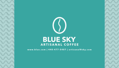 Business Card Template for Cafe Shop with Coffee Icon 186d
