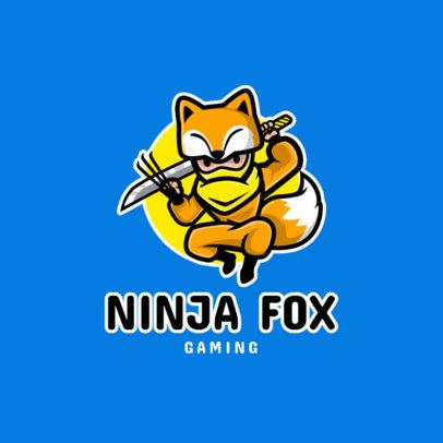 Gaming Logo Maker Featuring Cartoonish Ninjas 1289-el1