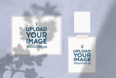Moodboard Mockup Featuring Two Photos and a Colored Card 3880-el1