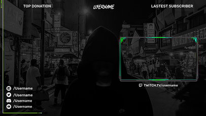 OBS Stream Overlay Maker With a Simple Layout and a Webcam Frame 2512