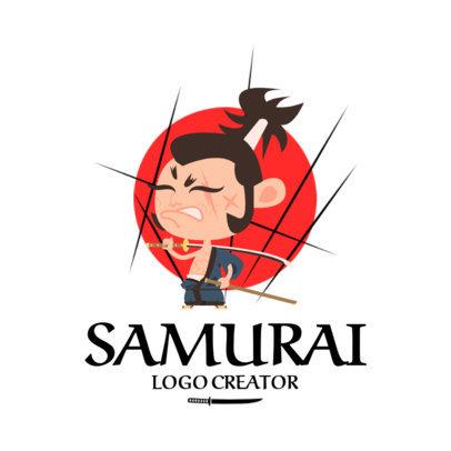 Logo Template Featuring Samurai Cartoon Characters 1264-el1