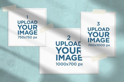 Mockup of a Mood Board Featuring Three Different Size Pictures 3885-el1