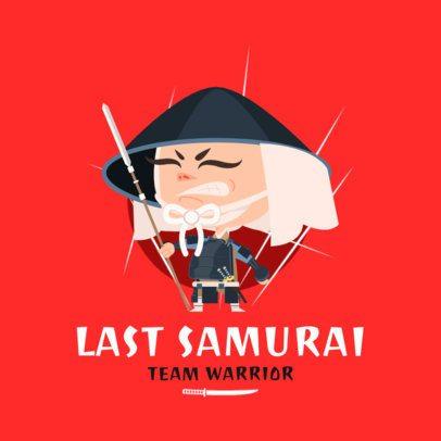 Gaming Logo Creator Featuring a Samurai Character 1264b-el1