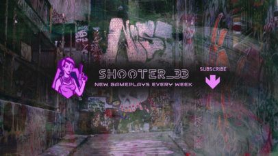 YouTube Banner Creator for a Gaming Channel with a PUBG-Inspired Female Shooter 2509f