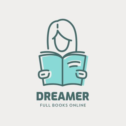 Logo Creator for an Online Books Store 1308c-el1