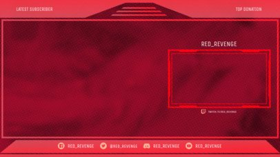 OBS Stream Overlay Design Template with a Dotted Texture 2513g