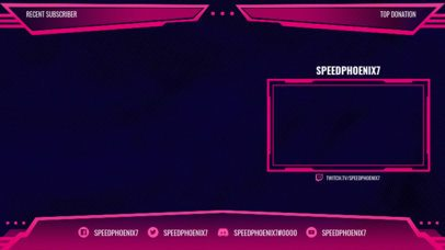 Twitch Stream Overlay for OBS with Sharp Lines 2513c