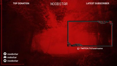 Gaming Twitch Overlay Creator Featuring a Customizable Top Display 2512k