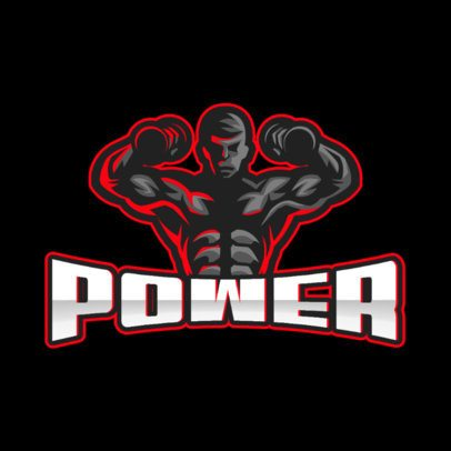 Fitness Center Logo Generator with a Muscular Man Graphic 1427d-el1
