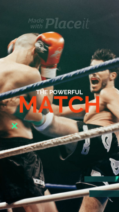 Dynamic Instagram Story Video Maker with an MMA Theme 298-el1
